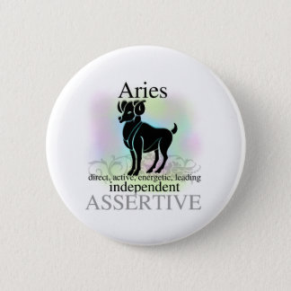 Aries About You 2 Inch Round Button
