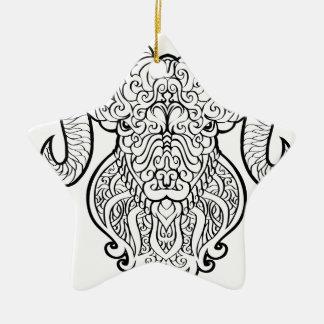 Aries Art Ceramic Star Ornament
