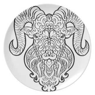 Aries Art Plate