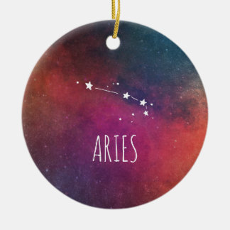 Aries Astrology Ceramic Ornament
