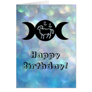 Aries astrology sun sign birthday card
