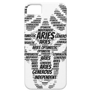 Aries Astrology Zodiac Sign Word Cloud iPhone 5 Covers