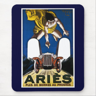 Aries Automobile - Vintage French Advertisement Mouse Pads