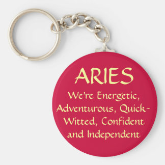 ARIES BASIC ROUND BUTTON KEYCHAIN
