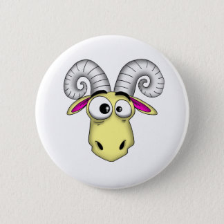 Aries Cartoon 2 Inch Round Button