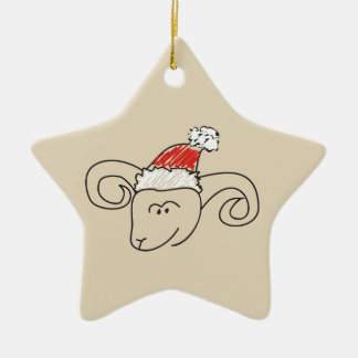 Aries Christmas Funny Astrology Star Red Cool Ceramic Ornament