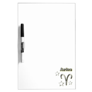 Aries chrome symbol dry erase board