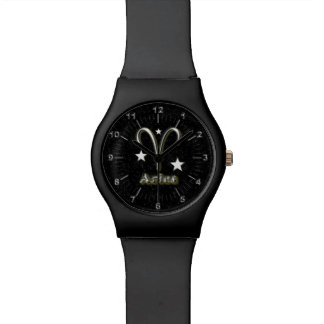 Aries chrome symbol watch