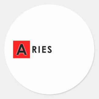 ARIES COLOR CLASSIC ROUND STICKER