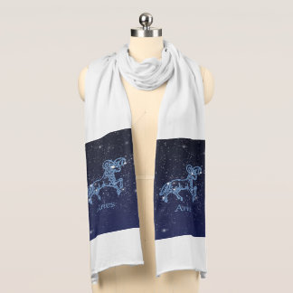 Aries Constellation and Zodiac Sign with Stars Scarf