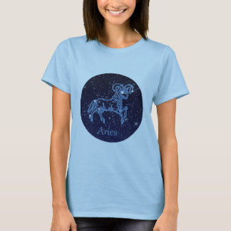 Aries Constellation and Zodiac Sign with Stars T-Shirt
