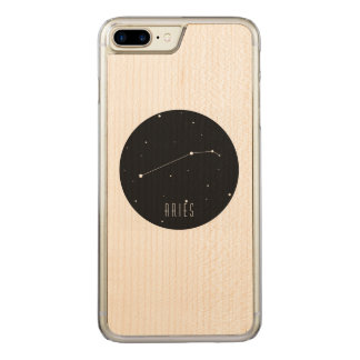 Aries Constellation Carved iPhone 8 Plus/7 Plus Case
