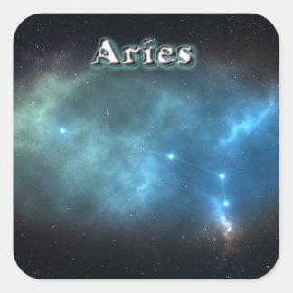 Aries constellation square sticker