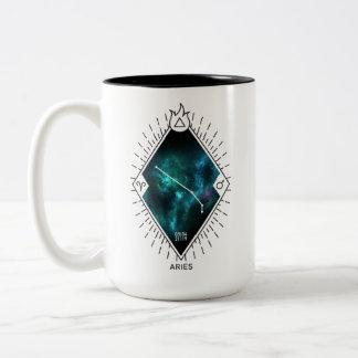 Aries Constellation & Zodiac Symbol Two-Tone Coffee Mug
