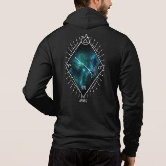 Aries Constellation & Zodiac Symbol Zip Hoodie