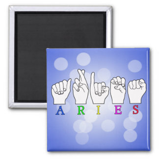 ARIES FINGERSPELLED ASL ZODIAC NAME SIGN MAGNET