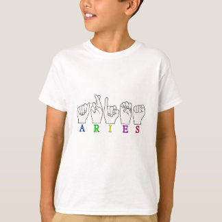 ARIES FINGERSPELLED ASL ZODIAC NAME SIGN T-Shirt