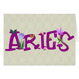 Aries Flowers Card