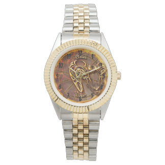 Aries Gold and Silver Watch