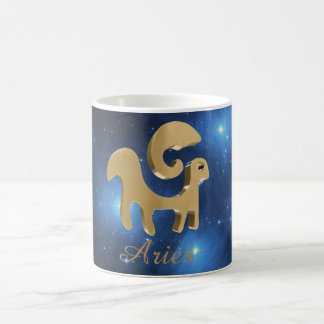 Aries golden sign coffee mug
