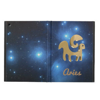 Aries golden sign iPad air covers