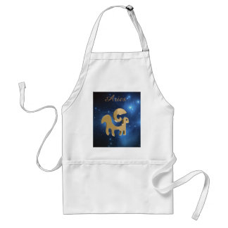 Aries golden sign standard apron