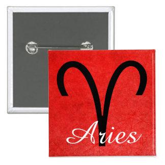 Aries, Horoscope Sign Ram Symbol Button