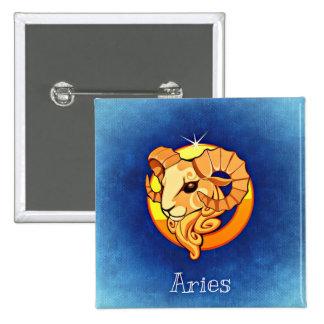 Aries, Horoscope Sign Ram Zodiac Symbol Button
