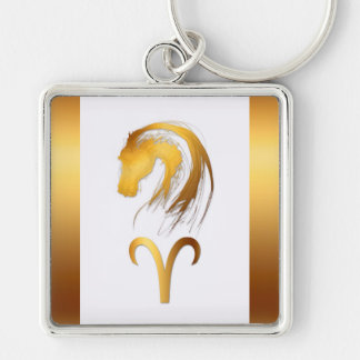 Aries + Horse - Chinese and Western Astrology - Key Chains