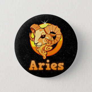 Aries illustration 2 inch round button