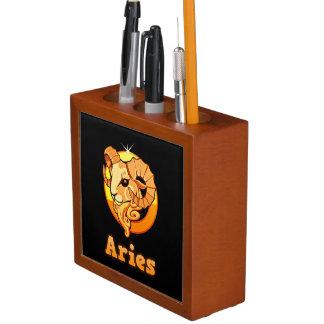 Aries illustration desk organizer