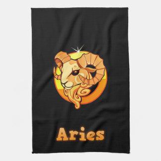 Aries illustration kitchen towel
