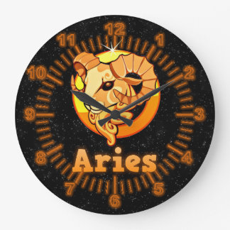 Aries illustration large clock