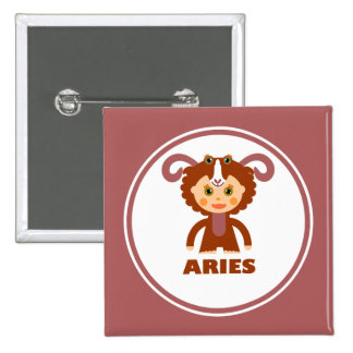 Aries is my Zodiac Sign Pinback Buttons