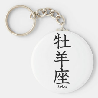 Aries Basic Round Button Keychain