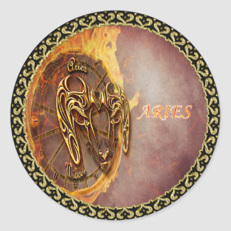 Aries March 21st until April 20th Horoscope Classic Round Sticker