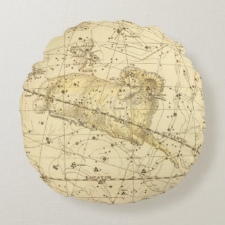 Aries, Musca Borealis Round Pillow