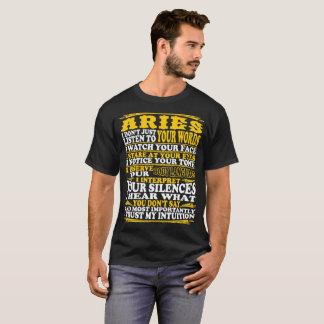 Aries Observe Interpret Trust Intuition Tshirt