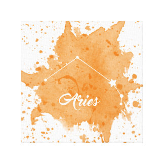 Aries Orange Wall Art