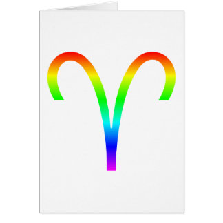 Aries Rainbow Card