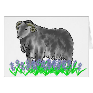 Aries Ram And Bluebells Art Card