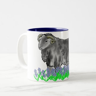 Aries Ram And Bluebells Art Mug
