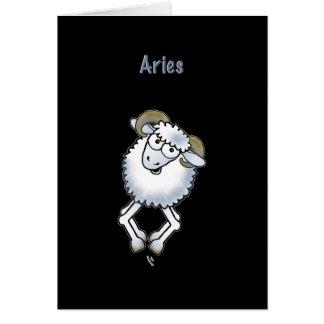 Aries ram birthday sheep Zodiac greeting card