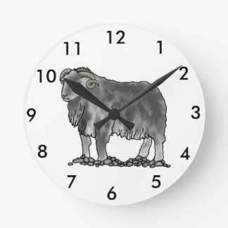 Aries Ram Herdwick Sheep Art Clock