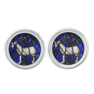 Aries Ram Year - Stained Glass - Pair of Cufflinks