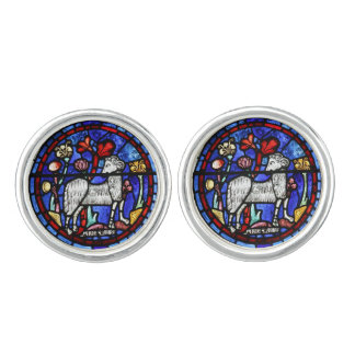 Aries Ram Year - Stained Glass windows - Cuffinks Cuff Links