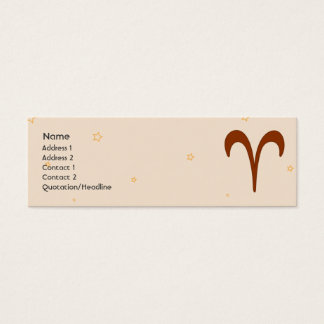 Aries - Skinny Mini Business Card