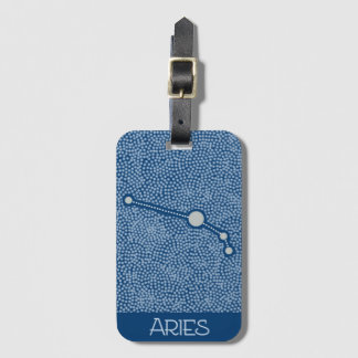 Aries Star Horoscope Sign - Luggage Tag