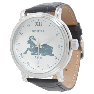 Aries Star Sign Vintage Art | Customized Watch