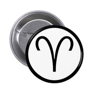 Aries Symbol 2 Inch Round Button